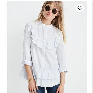 Madewell x Karen Walker Striped Annie Shirt Sz M